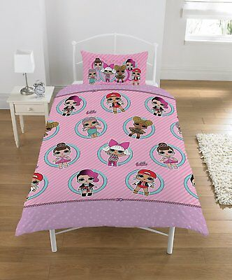 LOL Surprise Collectible Reversible 2 Sided kids Design Single Rotary Duvet Cove