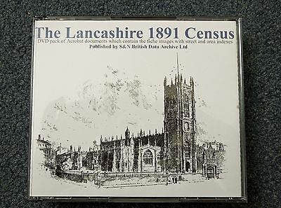 1891 Census LANCASHIRE 3 DVD SET plus free Index CD