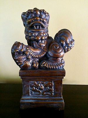 Foo Dog and Pup Statue (Resin)