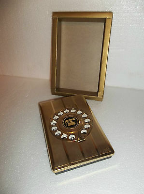 Vintage Rotary Telephone Address Book Dial Pop-Up Gold  Collectible - Never Used