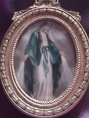 Catholic Print, Blessed Mother / Our Lady of Grace, Boxed 22kt Gold Leaf Frame