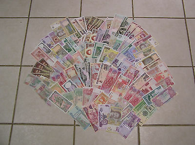 COLLECTION of 100 no.WORLDWIDE BANKNOTES in MINT and UNCIRCULATED CONDITION