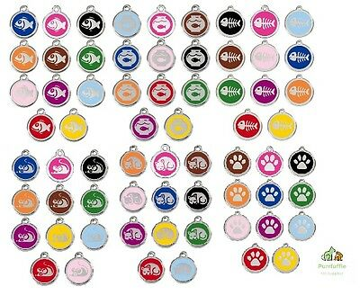 RED DINGO ENGRAVED CAT IDENTITY TAGS Personalised ID Disc Paw Fish Mouse +More
