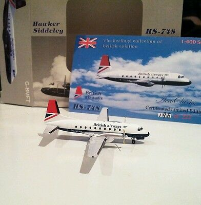 Aeroclassics British Airways 1/400 scale Hawker Siddeley HS748 G-BCOE model