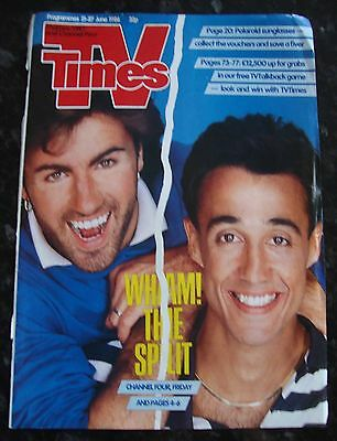 Wham Magazine Cutting - TV Times Cover Page 1986