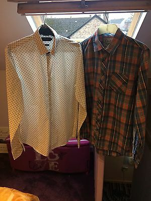 2 Men's Shirts Size Small Long Sleeve
