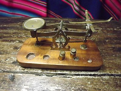 Antique Letter Scales Spares And Repairs Maybe New Base 2 Nice Brass 20Grm Weigh