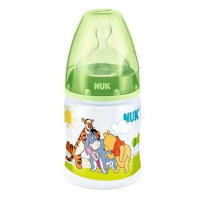 NUK First Choice Disney Baby Bottle Silicone Teat Green 150ml 0-6 Months New