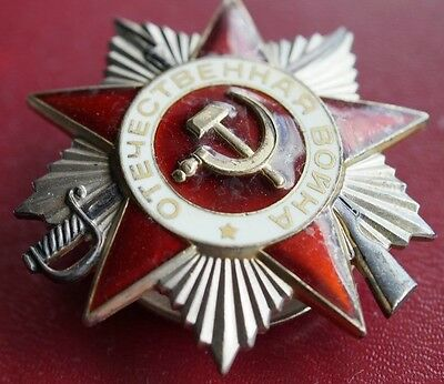 WWII USSR Russian Soviet Silver Order of Patriotic War 2 class Medal
