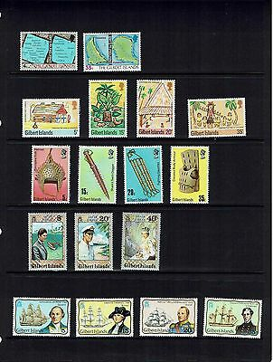 Gilbert Islands: 1976/8 Collection 12 commeorative sets, Mint & Fine used