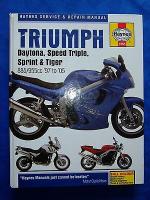 Haynes Manual for Triumph 1050 Sprint ST, Tiger and Speed Triple & owners book