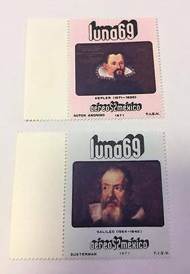 Mexico 1971 stamps space astronomy Kepler Galileo