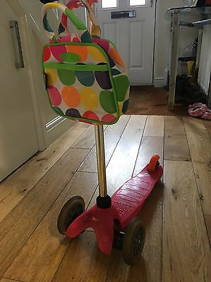 Neon Pink Micro Mini Scooter With Accessories