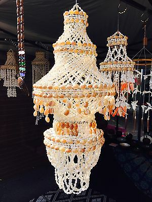 Gorgeous Shell Chandelier! SALE!! Beach House Decor - Large Shell Hanging