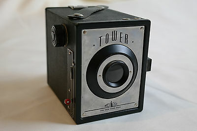1948, Sears Tower, 34 Box Camera for 120 flim, collectible camera, Vintange
