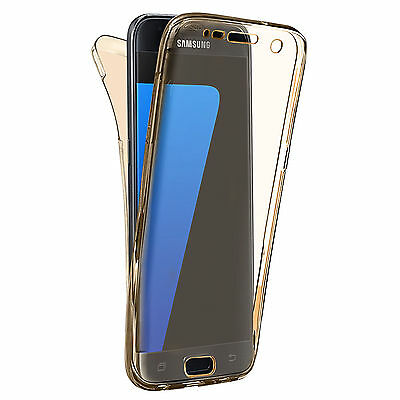 Shockproof 360° Silicone Protective Case For Samsung Galaxy S7 EDGE Gold (15)