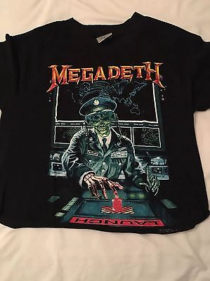 Megadeth T shirt (circa early 90's) Due 2 Cropped Length Would Suit Lady