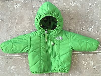 The North Face Quilted Puffer Reversible Jacket Infant Baby Size 0-3 Months