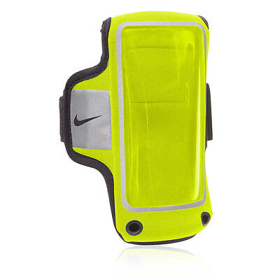 Nike Lightweight Arm Band Storage Wallet For Phone Volt Yellow Reflective New
