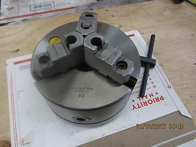 """SHARS 6""""3 Jaw Self Centering Lathe Chuck With 1-1/2-8 T.P.I. Back Plate"""