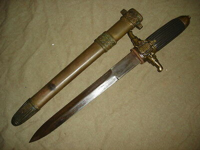 Collectable European Dagger Double Edges Military SINGED SHARP