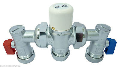Dart Valley Thermostatic Mixing Valve 4in1 – 15/22mm