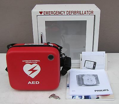 Philips M5066A HeartStart OnSite AED with Emergency Glass Box