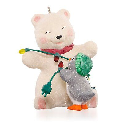 Wrapped Up In Friendship 2015 Hallmark Ornament #15 Snowball Tuxedo Bear Penguin