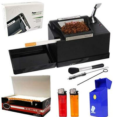 NEW Powermatic 2+Electric Cigarette Injector Machine+Tubes,Cig Case & Ligther