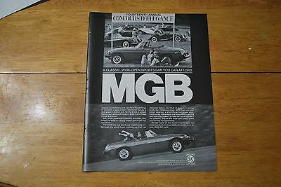 MGB Automobile 1979 Playboy Magazine ad - Excellent +++