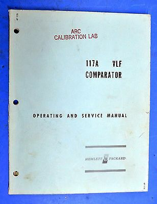 HP / Agilent 117A VLF Comparator Receiver Operating and Service Manual