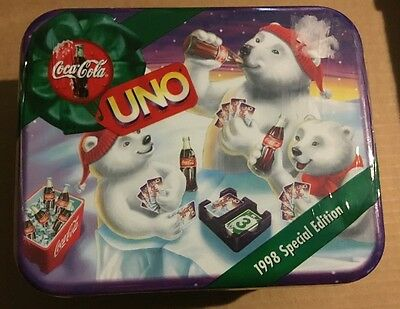 Coca Cola 1998 Special Edition Uno Game And Collectible Tin New Sealed