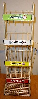 Vintage Wrigley's Chewing Gum Metal Counter Top Store Display Rack Sign Big Red