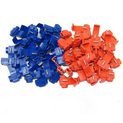 20Pcs Red Blue Scotchlocks Snap On Connector Wire Splicer Terminal Lock Splice