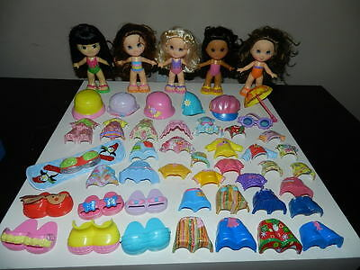 Huge Fisher Price Snap N Style Lot Dolls Clothes Accessories