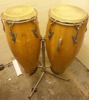 """Pair of Congas 12"""" and 13"""" Percussion Drums"""