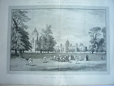 """"""" Rugby School, From The Close """" 1891"""