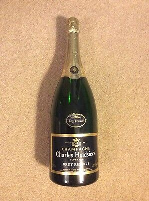 Charles Heidsieck French Champagne 1.5 L Magnum Reims Brut Reserve Empty Sealed