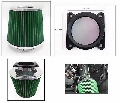 "Black 2.5/"" 63mm Cold Air Intake Cone Filter Replace For Prelude Ridgeline S2000"