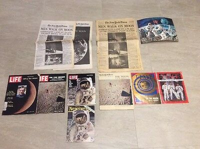 The New York Times MEN WALK ON MOON Monday July 21, 1969 Time Life Magazine Lot
