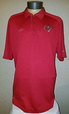 35375e6dd NEW Nike NFL On Field Apparel Tampa Bay Buccaneers Red Dri-Fit Polo Mens XL