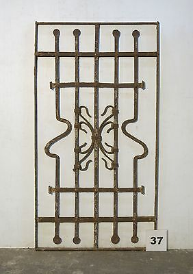 Antique Egyptian Architectural Wrought Iron Panel Grate (IS-037)