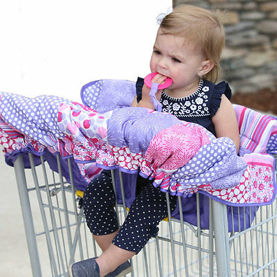 Infantino Pink Purple & Paisley Shopping Cart Restaurant High Chair Cover