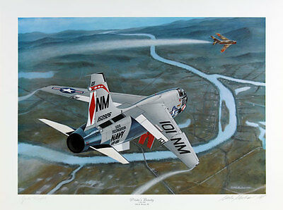 'Pirate's Bounty' F38 Crusader Signed Pilot Lt. Cdr J. Nichols and Mike Machat