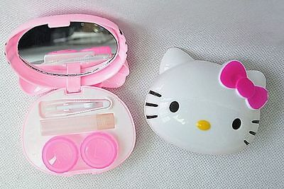 New Cute HelloKitty Design Contact Lens Case Soak Storage Cosmetic Box LM-D27a2