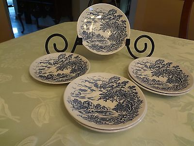 Wedgwood Enoch Tunstall Countryside 6 Saucers