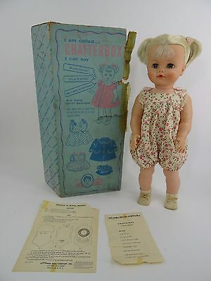 Vintage Madame Alexander Chatterbox Doll