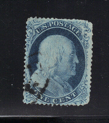 US Stamp #22 Type IIIa 1 Cent Franklin Used - $500 cv See Scans - Nibbled Perfs
