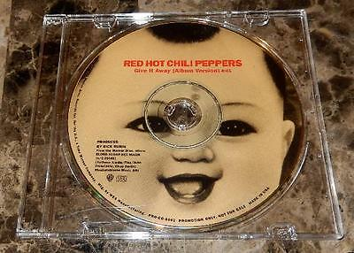 RED HOT CHILI PEPPERS rare GIVE IT AWAY 1991 WEA 1-TRK RADIO PRO DJ picture CD