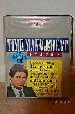 Christopher Reeve Time Managment Systems OOP Rare VHS Excellent